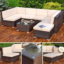 Sitzgruppe Sitzgarnitur Lounge Gartenmöbel Gartenset Rattan Sitzgruppe braun XL