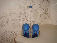 Alessi Bleu salière et poivrière avec support