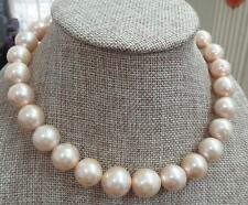 "HUGE 18""13-16mm natural south sea genuine gold pearl necklace  630AAA"
