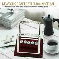 Newton Cradle Balance Stahlkugel Physik Wissenschaft Schreibtisch Pendel J5W0