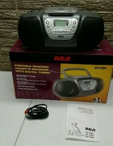 NEW IN THE BOX RCA RP-7986 Portable CD/Cassette/Radio Player BOOMBOX