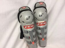 CCM U+ 08 Hockey Shinguards 11 Inch Jr Worn Once YGI IHH SH12
