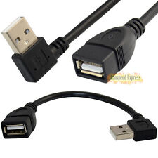 High Speed 25cm USB 2.0 A Female To Right Angle A Male F/M Data Short Cable Cord