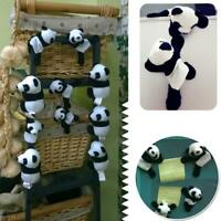 2PCS Cute Soft Plush Panda Fridge Magnet Refrigerator Sticker Home Decoration