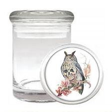 Skull Odorless Air Tight Medical Glass Jar Container Design-021 Evil Owl Skull