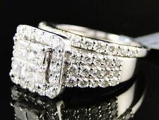 14K Women's White Gold Princess Cut Diamond Engagement Wedding Ring Bridal 3 Ct