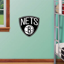 "Brooklyn Nets 11""x11"" Fathead Nba Team Logo Teammate Vinyl Wall Graphics"