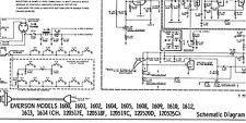 Schematic EMERSON 1600-1614 CH 120517E-120526C MOTOROLA Y17P6-1A 2A RTS-433 Y TV