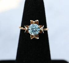 VINTAGE 14K YELLOW GOLD 1CT (APPROX) TOPAZ RING *ONE OF A KIND* SZ 5