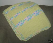 New Soft Cuddly Hand Crocheted Baby Blanket