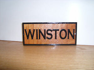 Personalized, WOODEN Horse Stall Name Sign.WOOD BIRCH.Laser ENGRAVED.GIFT.