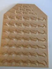 Vintage Wooden Thread Bobbin Rack Spool Holder Wall Mount 51 Pegs Sewing Storage