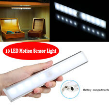 10 LEDs Stick-on Bright Motion Sensor Night Light Cabinet Lamp (Battery Powered)