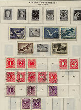 Austria  lot  on  album  page  better airmail stamps        KEL1211