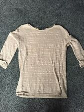 Dorothy Perkins Brown Glitter Stripe Top Size 6