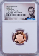2020 S 10-coin-clad-proof-SET Version LINCOLN CENT Penny NGC PF69 RD ER