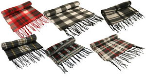 Atano Mens Fine Soft Fleece Scarf with Tassel Ends