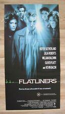 FLATLINERS '90 Orig Australian daybill movie poster Keifer Sutherland near death