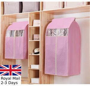 Dress Coat Clothes Garment Suit Cover Zip Bag Dustproof Hanger Storage Protector