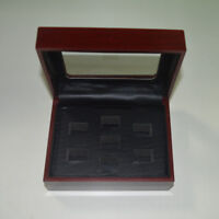 7 Hole Wooden Glass Display Box for  Cup Championship Ring