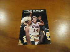University of Richmond 1991/92 Women's Basketball Pocket Schedule