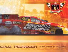 2008 Cruz Pedregon Dow Great Stuff Chevy Impala Funny Car NHRA postcard