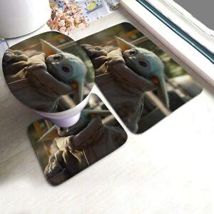 Star Wars' s Bathroom Set 3PCS Rugs Non-Slip Mat Toilet Lid Cover Pad Bath Mats