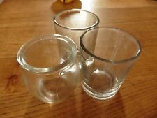 3 small glasses for candels and craft projects