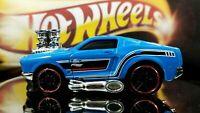 Hot Wheels 1968 Mustang DTX47 Blue Tint Windows Motor Racing
