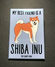 Shiba Inu Fridge Magnet Handmade Dog Gifts Kitchen Refrigerator and Locker Decor