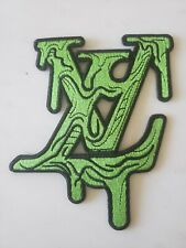 lv slime green patch iron on or sew on - 1 patch