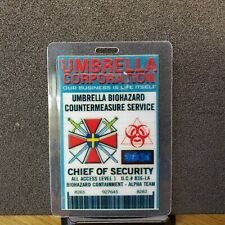 Resident Evil ID Badge-Umbrella Corporation Chief Of Security  costume cosplay