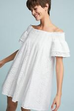 NWT Anthropologie Carter Off-The-Shoulder Swing Dress By Joa Size X-Small