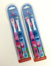 4 Peppa Pig Toothbrush Pink Blue Nickelodeon Cartoon TV Show George Teeth P8-6