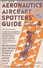 AERONAUTICS AIRCRAFT SPOTTERS GUIDE,ISSUE NO.4-OCTOBER 1942