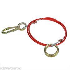 Cable para Colgante 1m con mosquetón y anillo, cuerda de seguridad arranque