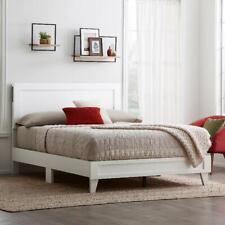 King Size Bed Frame Upholstered Wooden Headboard Platform Bedroom Furniture New