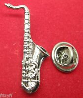 Saxophone Lapel Hat Cap Tie Pin Badge Brooch Sax Musician Gift Souvenir