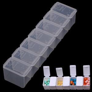7Days Tablet Pill Box Holder Weekly Medicine Storage Organizer Container Case SL