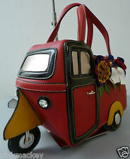Bolso señora bolso Bag triciclo Piaggio-motivo coleccionista multicolor rojo nuevo