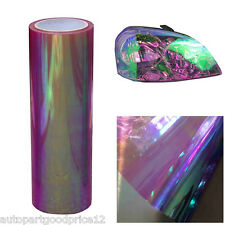 "12""x78"" Chameleon Colorful Purple Car Headlight Tail Light Vinyl Tint Film Sheet"