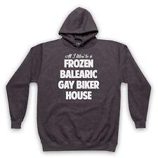 FROZEN BALEARIC GAY BIKER HOUSE NICHE DANCE MUSIC ADULTS KIDS HOODIE