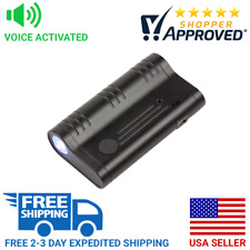 Voice Activated Spy Audio Bug Recorder Flashlight w/ 90+ Day Battery & Magnet