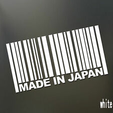 MADE IN JAPAN Car Sticker JDM DRIFT Slammed Barcode SUV Reflective Vinyl Decal