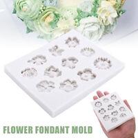 Flower Lace Silicone Fondant Mold Bake Cake Border Decor Sugar Icing Paste Mould