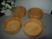 4 Wooden Bowls