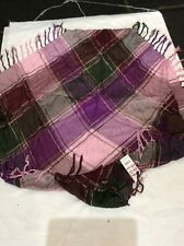 BNWT Pink Purple Check CLAIRES ACCESSORIES Scarf  RRP £10