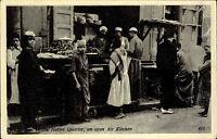 Kairo Cairo Ägypten Egypt AK ~1930 Au Quartier Arabe Native Quarter Einheimische