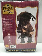 Pirates Of The Seven Seas Pet Costume Dog Halloween PIRATE KING Med. RUBIE'S NEW