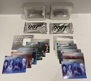 "2002 James Bond ""Spy Files"" 007 Tin & Unopend Card Packs x2"
